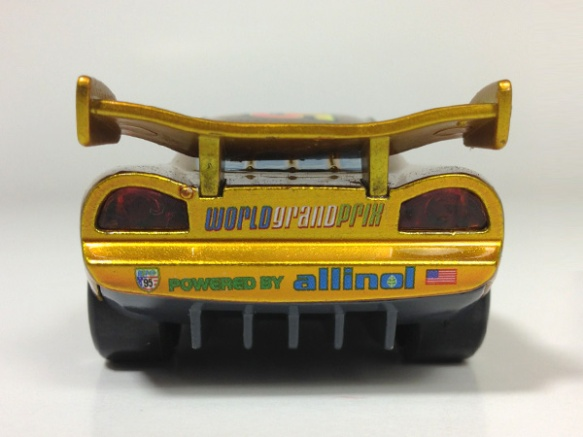 Gold Lightning McQueen (Chase) - Rear View