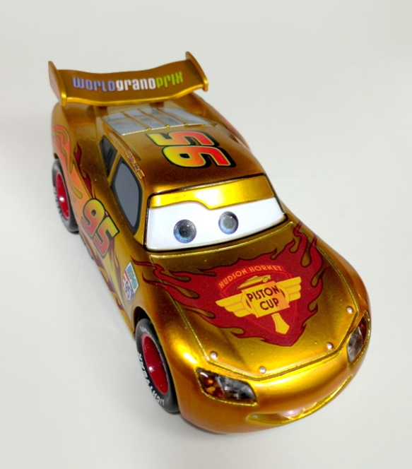 Gold Lightning McQueen (Chase) - Top Angle